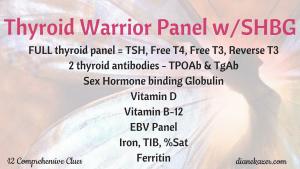 Thyroid Warrior Panel w/ Sex Hormone Binding Globulin